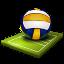 imagem de uma bola de voleibol