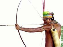 imagem de um índio com um arco e flecha