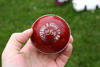 imagem de uma bola de críquete