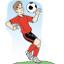 desenho de um jogador de futebol