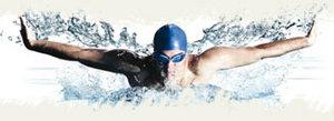 imagem de um atleta nadando