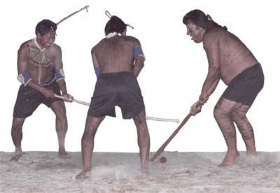 imagens de índios jogando rokrã