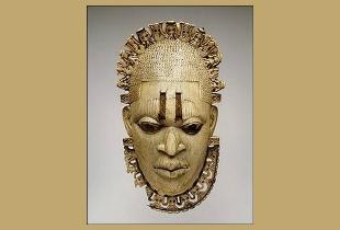 M�scara africana de marfim.
