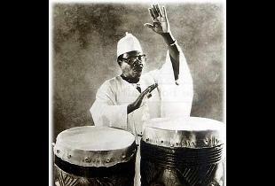 Foto de musico africano.